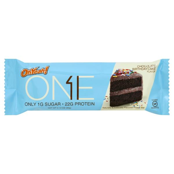 Oh Yeah One Protein Bar Chocolate Birthday Cake Flavor