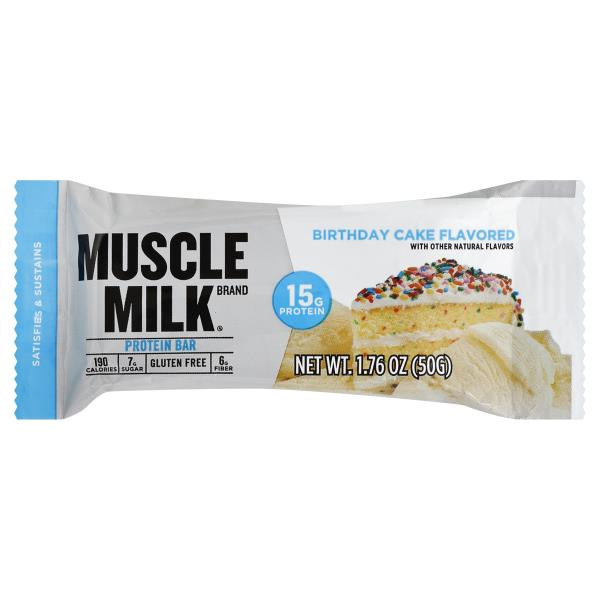 Muscle Milk Protein Bar Birthday Cake Flavored