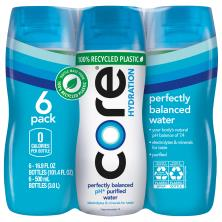 Alkaline Core Water, Ultra Purified, Hydration, 6 Pack