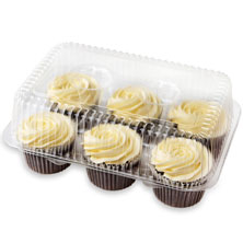 Cream Cheese Iced Chocolate Cupcakes, 6-Count