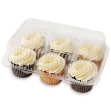 Cream Cheese Iced Assorted Cupcakes, 6-Count