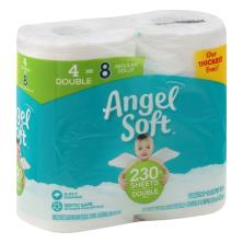 Angel Soft Bathroom Tissue, Unscented, Double Rolls, 2 Ply