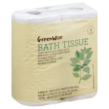 GreenWise Bath Tissue, Double Roll, 2-Ply