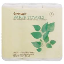 GreenWise Paper Towels, 2-Ply