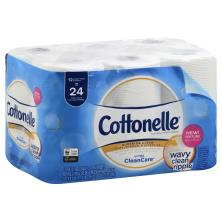 Cottonelle Ultra Clean Care Toilet Paper, Double Roll, 1-Ply