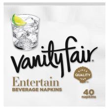 Vanity Fair Impressions Napkins, Beverage, 2-Ply