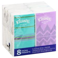 Kleenex Tissues, White, 3-Ply, Go Pack