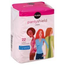 Publix Liners, Panty Shield, Unscented