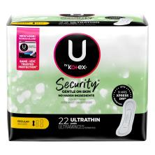 U by Kotex Security Pads, Ultra Thin, Regular