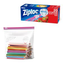 Ziploc Storage Bags, Slider, Quart