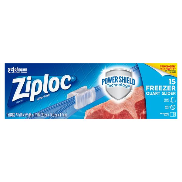 Ziploc Freezer Bags Slider Quart