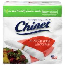 Chinet Classic White Napkins, Premium, All Occasion, 2 Ply