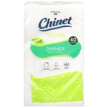 Chinet Classic White Napkins, Premium, Dinner, 3 Ply