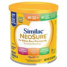 Similac Infant Formula, with Iron, NeoSure, Milk-Based Powder, Birth-12 Months