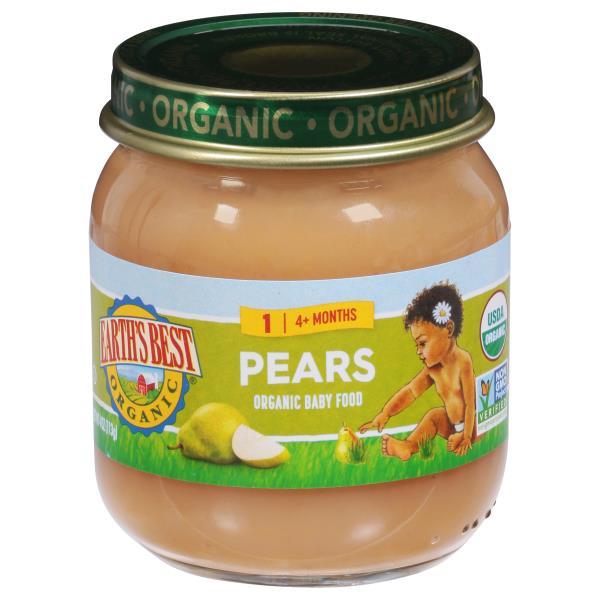 Earths Best Organic Pears, 2 (6 Months+)