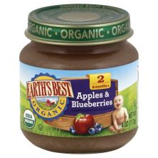 Earths Best Organic Apples & Blueberries, 2 (6 Months+)