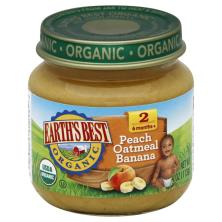 Earths Best Organic Peach Oatmeal Banana, 2 (6 Months +)