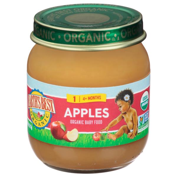 Earths Best Organic Apples, 2 (6 Months+)
