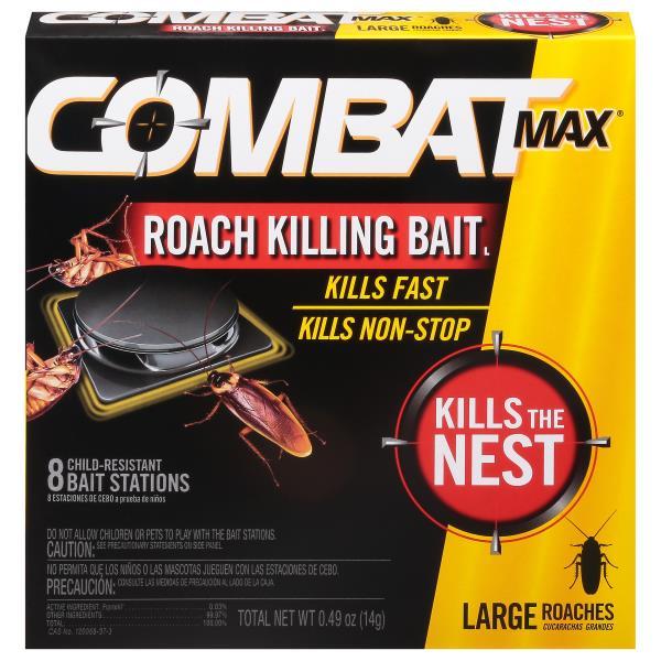 Combat Max Roach Killing Bait, Child-Resistant Bait Stations