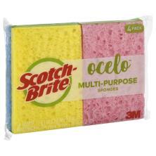 O Cel O Sponges, Handy Size, 4 pack!