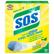 SOS Soap Pads, Steel Wool, Lemon Fresh Scent