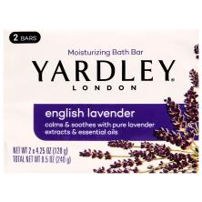 Yardley London Bath Bar, Naturally Moisturizing, English Lavender