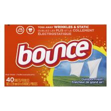 Bounce Fabric Softener, Sheets, Outdoor Fresh