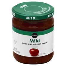 Publix Salsa, Thick and Chunky, Mild