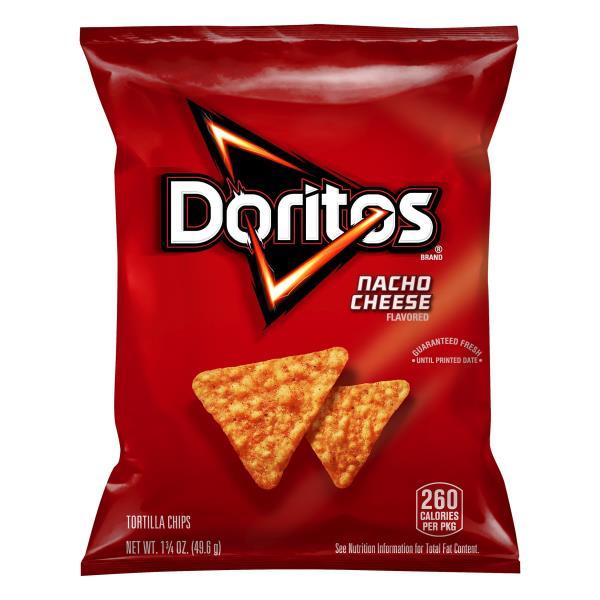 Doritos Tortilla Chips, Nacho Cheese Flavored