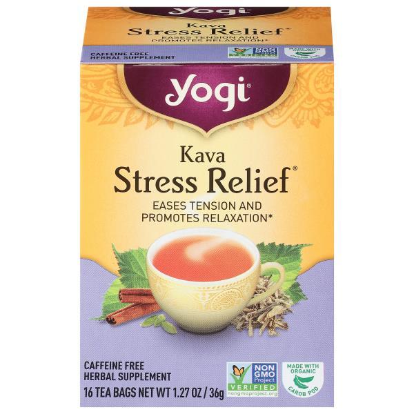 Yogi Tea, Kava, Stress Relief, Caffeine Free, Bags : Publix com
