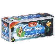 Caribbean Dreams Herbal Tea, Ginger Mint, Bags