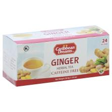 Caribbean Dreams Herbal Tea, Ginger, Caffeine-Free, Bags