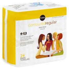 Publix Maxi Pads, Contoured, Regular