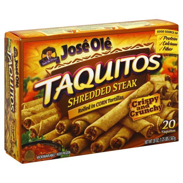 Jose Ole Taquitos, Shredded Steak