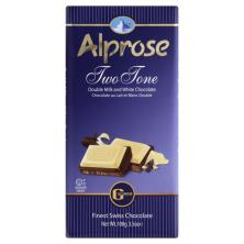 Alprose Two Tone Double Milk and White Chocolate