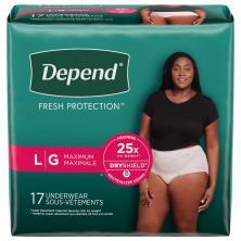 Depend Underwear, Fit-Flex, for Women, Maximum Absorbency, Large