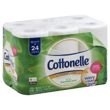 Cottonelle Ultra Gentle Care Toilet Paper, Double Roll, 1-Ply