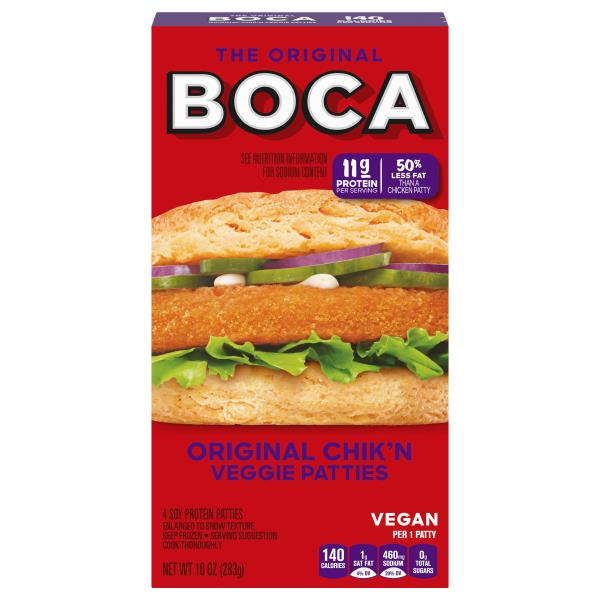Boca Veggie Patties, Original Chik'n, The Original