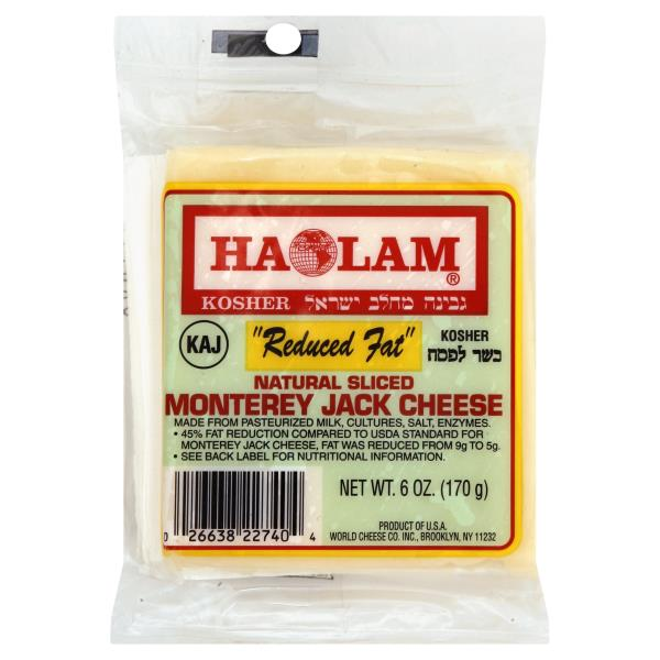 Haolam Sliced Cheese, Natural, Monterey Jack, Reduced Fat : Publix com