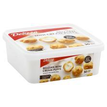 Delizza Cream Puffs, Belgian, Mini