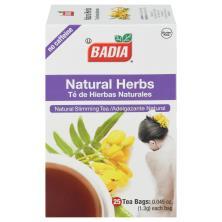 Badia Tea, Natural Slimming, Natural Herbs, Bags