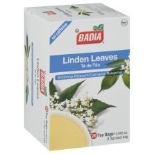 Badia Tea, Linden Leaves, No Caffeine, Tea Bags