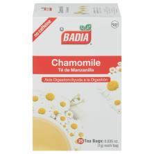 Badia Tea, Chamomile, No Caffeine, Bags