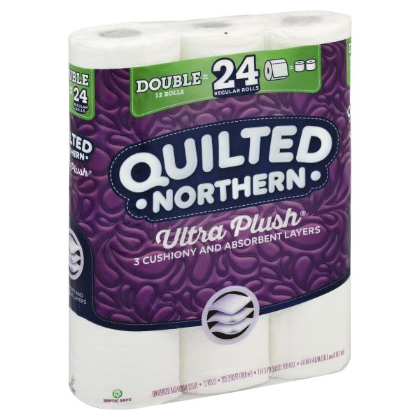 Quilted Northern Ultra Plush Bathroom Tissue Unscented Double