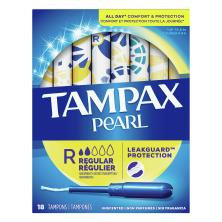 Tampax Pearl Tampons, Regular Absorbency, Unscented
