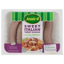 Jennie O Sausage, Turkey, Sweet Italian