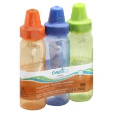 Evenflo Classic Bottles, Slow, Clear, 8 oz, 1 0-3 m