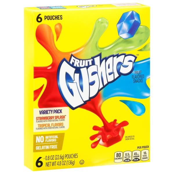 Fruit Gushers Fruit Flavored Snacks, Variety Pack