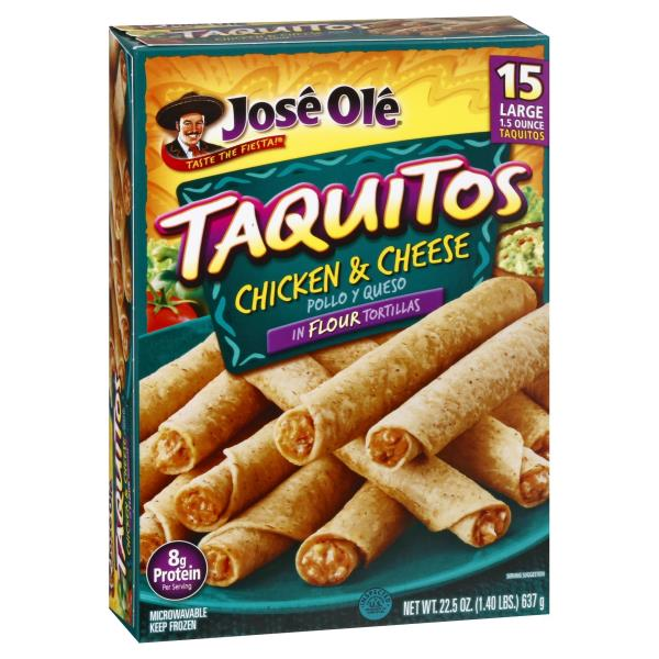Jose Ole Taquitos, Large, Chicken & Cheese