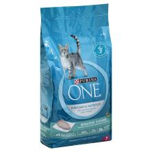 Purina One Cat Food, Premium, for Adult 1+, Sensitive Systems